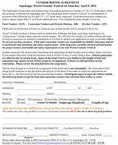 2017 Worm Gruntin' Festival Booth Agreement