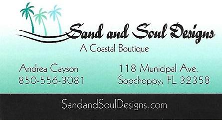 Sopchoppy Worm Gruntin' Festival 5K Sponsor - Sand and Soul Designs
